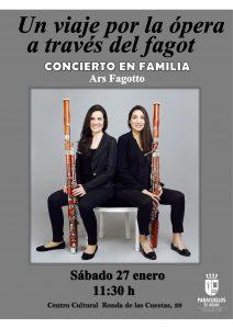 Concierto en Familia: UN VIAJE POR LA ÓPERA A TRAVÉS DEL FAGOT @ Centro Cultural de Paracuellos de Jarama